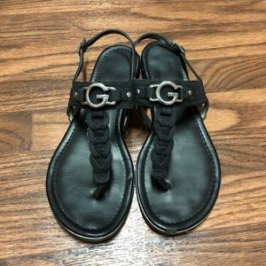 G by Guess Black Sandals